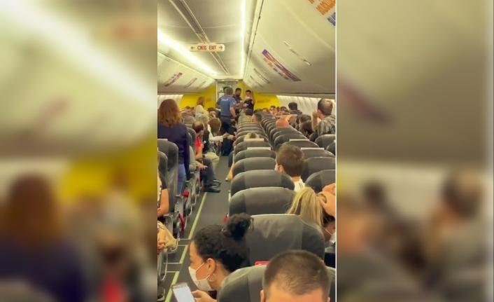 Uçakta taciz iddiası