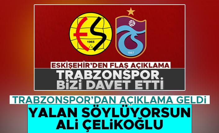 Trabzonspor'dan Eskişehirspor'a cevap