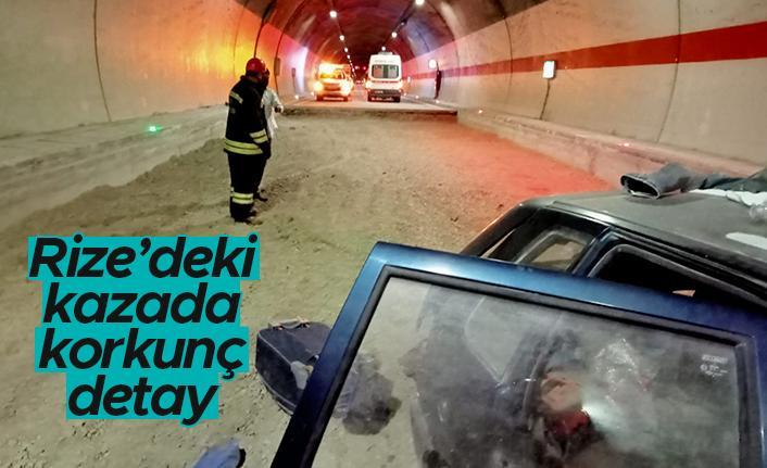 Rize'deki kazada korkunç detay
