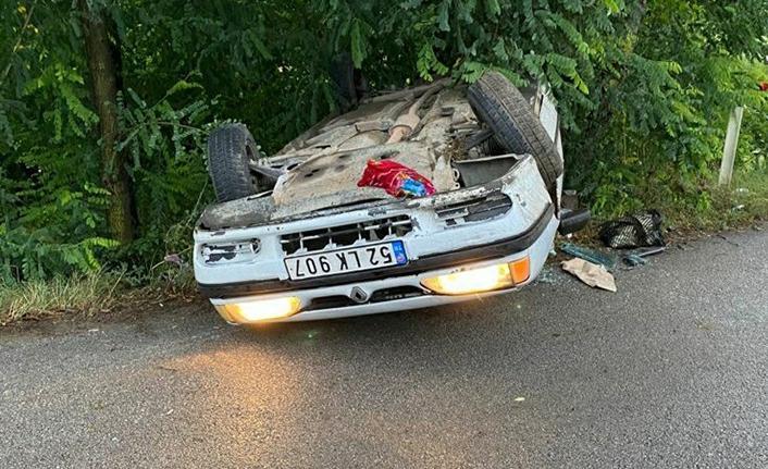 Samsun'da otomobil takla attı: 2'si ağır, 3 yaralı
