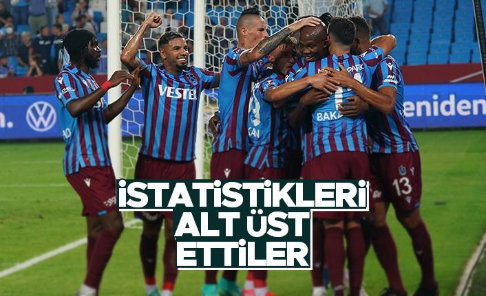 Trabzonspor, Molde maçında istatistikleri alt üst etti