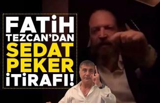 Fatih Tezcan'dan Sedat Peker itirafı!