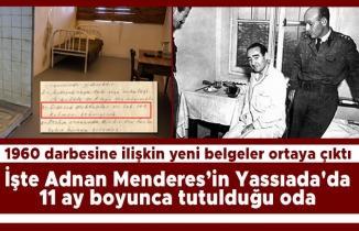 Menderes'in Yassıada'da 11 ay tutulduğu oda
